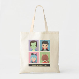 Cute Monster Loot Kids Tote Bag