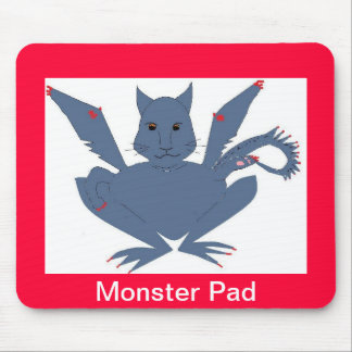 Cute Monster Mouse Pad