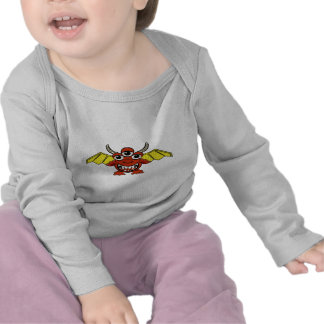 Cute Monster Red Wings T Shirt
