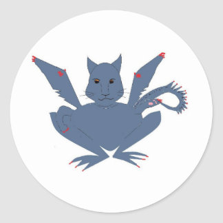 Cute Monster Round Sticker