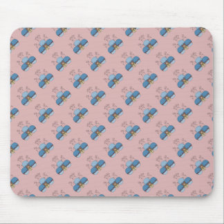 Cute Monster With Blue And Red Frosted Cupcakes Mouse Pad