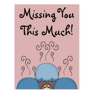 Cute Monster With Blue And Red Frosted Cupcakes Post Cards