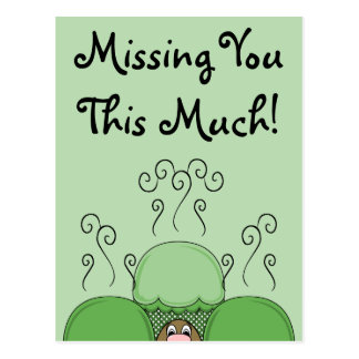 Cute Monster With Green Frosted Cupcakes Postcard
