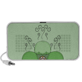 Cute Monster With Green Frosted Cupcakes Portable Speaker