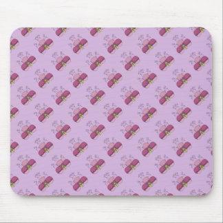Cute Monster With Pink And Purple Frosted Cupcakes Mousepad