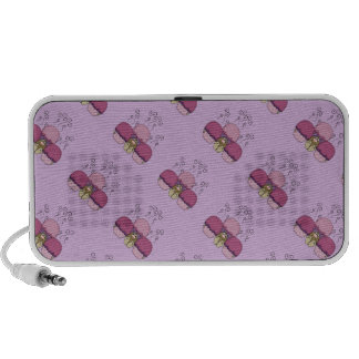 Cute Monster With Pink And Purple Frosted Cupcakes Laptop Speaker