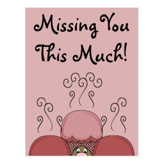 Cute Monster With Red Frosted Cupcakes Post Cards