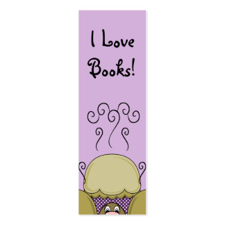 Cute Monster With Yellow & Purple Frosted Cupcakes Business Card Templates