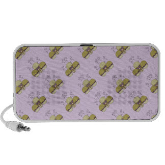 Cute Monster With Yellow & Purple Frosted Cupcakes Notebook Speaker