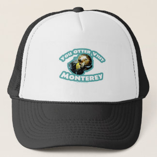Cute Monterey Otter Travel Trucker Hat