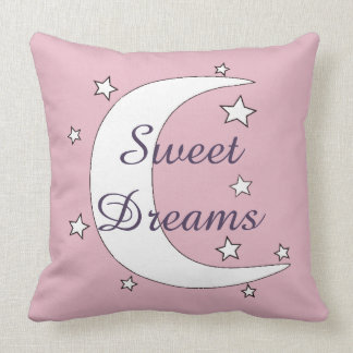 Cute Moon and Stars Sweet Dreams Cushion