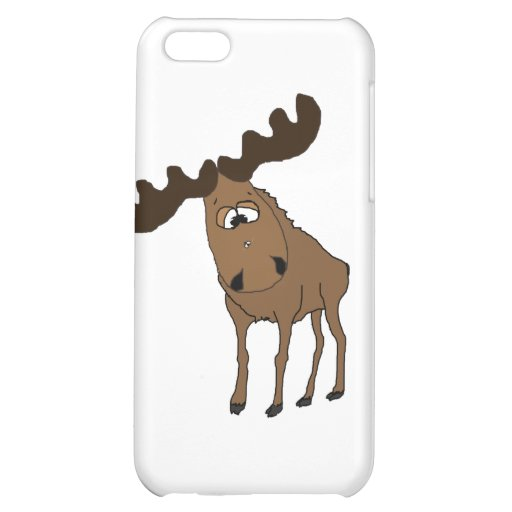Cute moose iPhone 5C cover