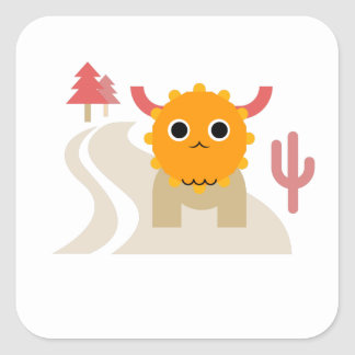 Cute Moose Square Stickers