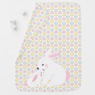 Cute mother & baby girl bunny Nursery Baby Blanket