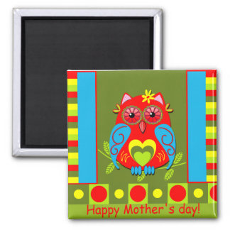 Cute Mother's day magnet with Owl