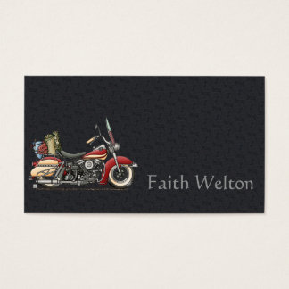 Cute Motorcycle Business Card