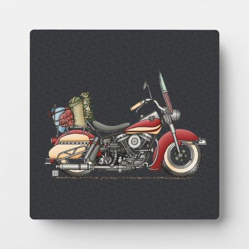 Cute Motorcycle Photo Plaque