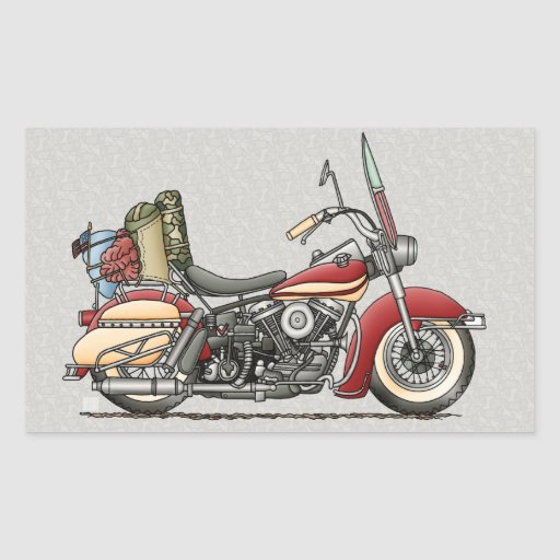 Cute Motorcycle Rectangle Sticker