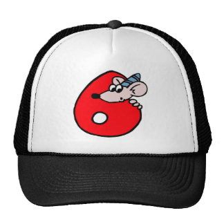 Cute Mouse 6th Birthday Gifts Cap