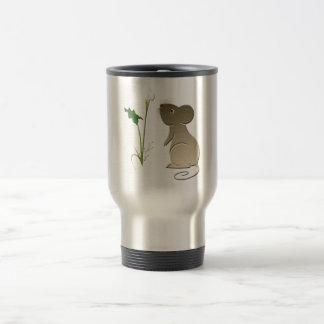 Cute Mouse and Calla lily design Travel Mug