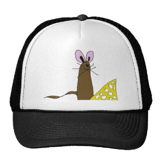 Cute Mouse and Cheese Trucker Hats