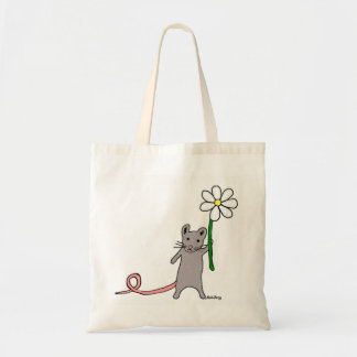 Cute Mouse And Flower Art Bag