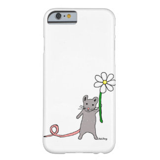 Cute Mouse And Flower Art iPhone Case