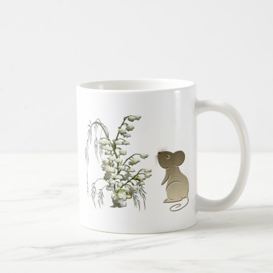 Cute Mouse and Lily of the Valley Coffee