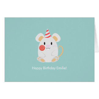 Cute Mouse Birthday Greeting Card