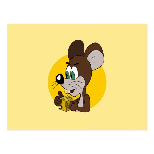 Cute mouse cartoon postcard