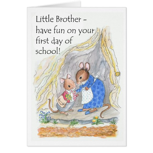 Cute Mouse Fun First Day of School for
