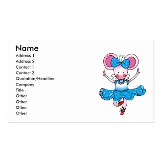 Cute mouse girl ballerina pack of standard business cards