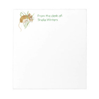 Cute Mouse Hanging In, Animal, Nature, Wildlife Notepads