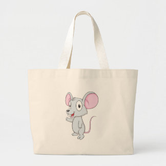 Cute Mouse Mice Wave Hand Hi Hello Show Something Jumbo Tote Bag