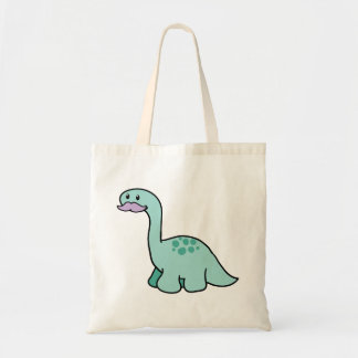 Cute Moustache Dinosaur