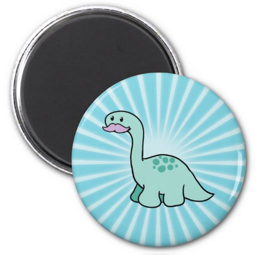 Cute Moustache Dinosaur Fridge Magnet