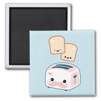 Cute Moustache Toaster Refrigerator Magnet