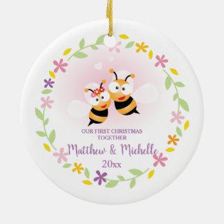 Cute Mr And Mrs Honey Bee First Christmas Keepsake Christmas Ornament