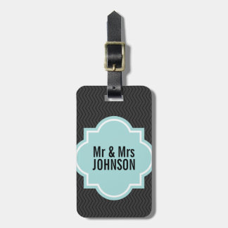 Cute Mr and Mrs travel luggage tag for newlyweds