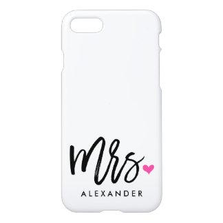 Cute Mrs. (NAME) iPhone 7 Case