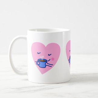 Cute Mug – Rosy Coffee Heart (Faded)