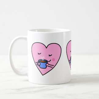 Cute Mug – Rosy Coffee Heart (Original)