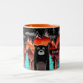Cute mug with bear