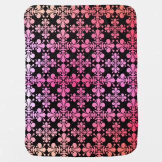 Cute multicolor fleur de lis pattern stroller blankets