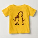 Cute Mum & Baby Giraffe T Shirts