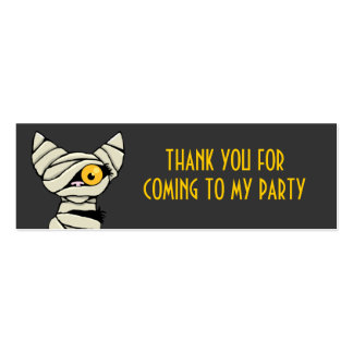 Cute Mummy Cat Thank You Party Favour Cards Pack Of Skinny Business Cards