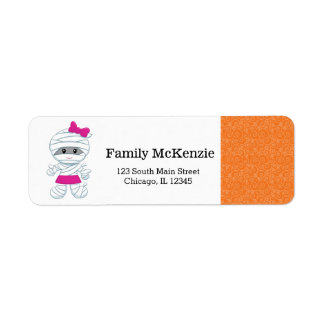 Cute mummy girl return address label