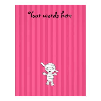Cute mummy pink stripes 21.5 cm x 28 cm flyer