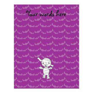 Cute mummy purple bats 21.5 cm x 28 cm flyer