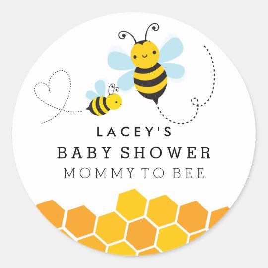 Cute Mummy To Bee Baby Shower Sticker